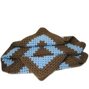 Crochet Granny Square Afghan HandMade Baby Blanket